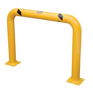 Vestil 48 inch x 36 inch x 4 inch Yellow High Profile Machinery and Rack Guard by Vestil