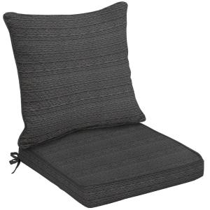 Hampton Bay Bentley Texture 2-Piece Welted Patio Chair Cushion