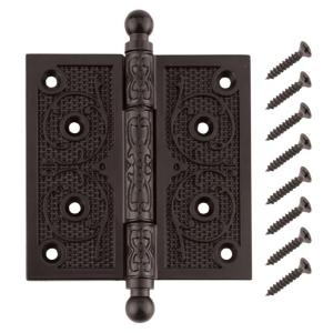 Everbilt 4 inch Oil-Rubbed Bronze Decorative Square Corner Door Hinge with... by Everbilt