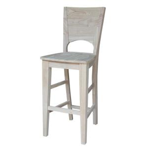 International concepts canyon 30 in unfinished wood bar stool s 483 the home depot Home depot wood bar stools
