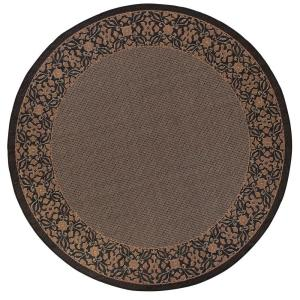 Home Decorators Collection Summer Chimes Cocoa and Black 8 ft. 6 in. Round Area Rug