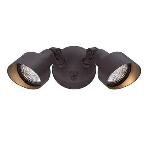 Acclaim Lighting Floodlights Collection 2-Light Architectural Bronze Outdoor LED Light Fixture by