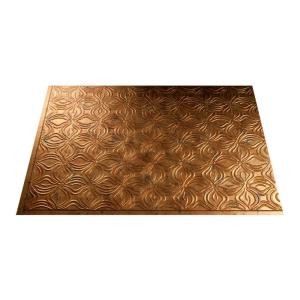 Fasade 18 in. x 24 in. Lotus Muted Gold PVC Backsplash