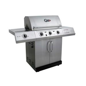 Char-Broil Gourmet 3-Burner TRU-Infrared Propane Gas Grill with Side Burner