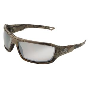 ERB Live Free Camo with Silver Mirror Lens Eye Protection (Retail Box)