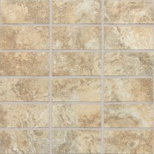 Daltile San Michele Dorato Cross Cut 12 In X 12 In X 8 Mm Glazed Porcelain Mosaic Floor And