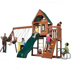 Swing-N-Slide Playsets Knightsbridge Wood Complete Swing and Play Set