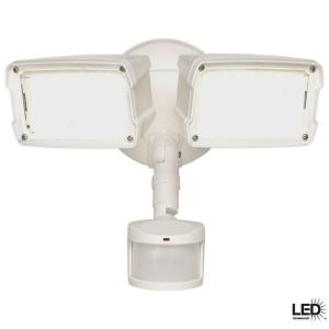 Defiant 180 Degree Motion Outdoor Activated White LED Security Floodlight by