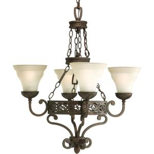 Progress Lighting Sanabria Collection Roasted Java 4-light Chandelier-DISCONTINUED