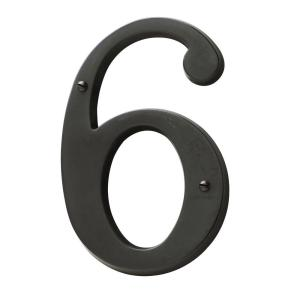 Baldwin 5 inch Oil-Rubbed Bronze House Number 6 by
