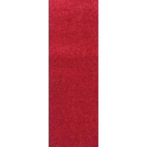 Nance Carpet and Rug OurSpace Red 2 ft. x 6 ft. Bright Runner