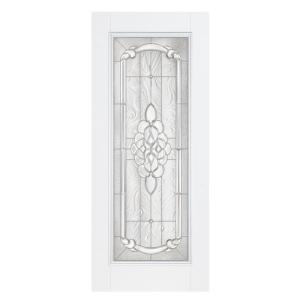 Masonite Oakville Full Lite Primed Steel Entry Door with No Brickmold