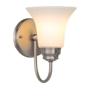 Commercial Electric 1-Light Brushed Nickel Sconce by