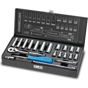 Channellock 1/4 inch Drive SAE Standard Socket Set (21-Piece) by