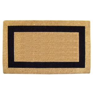 Nedia Home Single Picture Frame Black 22 inch x 36 inch HeavyDuty Coir Door Mat