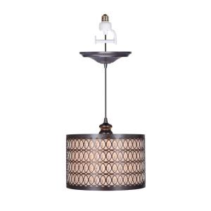 Worth Home Products Instant Pendant Series 1 Light Brushed Bronze Recessed Li