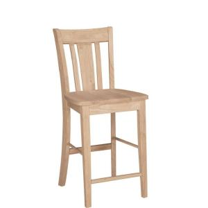 International concepts 24 in unfinished wood bar stool s 102 the home depot Home depot wood bar stools