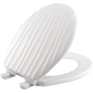 Bemis STA-TITE Slow Close Lift-Off Sculptured Round Closed Front Toilet Seat in White by