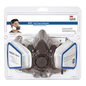 3M Tekk Protection Paint Project Respirator, Medium, 1 each/pack, 4 packs/case