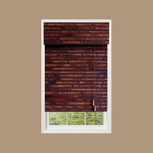 designview Mahogany Nepal Bamboo Roman Shade (Price Varies by Size)