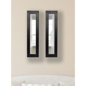 15 inch x 29 inch Black Superior Vanity Mirror (Set of 2-Panels) by