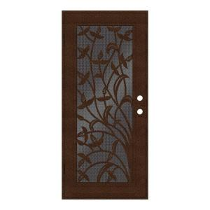 Unique Home Designs 32 inch x 80 inch Yale Copperclad Left-Hand Surface Mount...