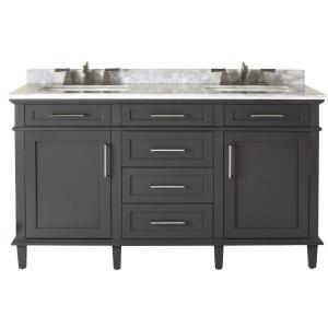 Home Decorators Collection Sonoma 60 inch W x 22 inch D Double Bath Vanity in... by Home Decorators Collection
