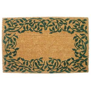 J & M Home Fashions Garden Ivy 19.5 inch x 29.5 inch Vinyl Back Coco Door Mat by