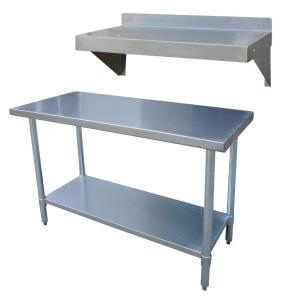 stainless steel kitchen utility table with work shelf - Kitchen Steel Table