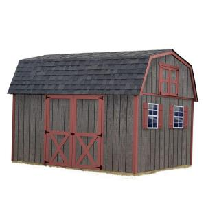 Best Barns Meadowbrook 10 ft. x 12 ft. Wood Storage Shed Kit without Floor