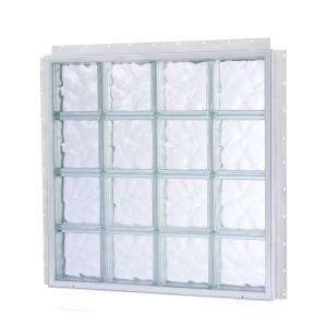 Tafco windows nailup 56 in x 56 in x 3 3 4 in solid for Plastic glass block windows