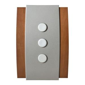 Honeywell Decor Series Wireless Door Bell, Wood with Satin Nickel Push Button...