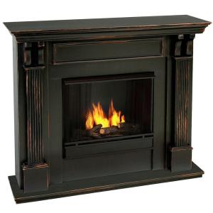 Real Flame Ashley 48 In Gel Fuel Fireplace In Blackwash 7100 Bw The Home Depot