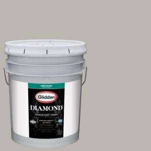 Glidden Diamond 5 gal. #HDGCN50 Candlestick Silver Semi-Gloss Interior Paint with Primer by