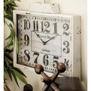 15 inch x 16 inch London Inspired Antique Metal Wall Clock by