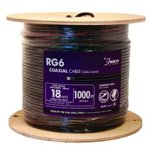 Southwire 1000 ft. RG6U Quad Shield Coaxial Cable, Black