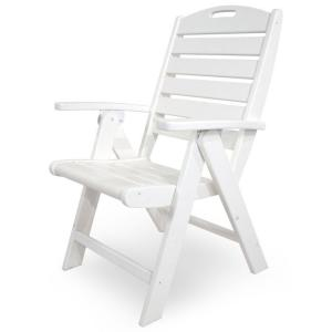 Trex Outdoor Furniture Yacht Club Classic White Highback Patio ...