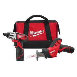 Milwaukee M12 12-Volt Lithium-Ion Cordless Screwdriver/Hackzall Combo Kit(2-Tool)