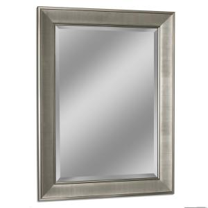 Deco Mirror 31 inch W x 43 inch H Pave Wall Mirror in Brush Nickel by Deco Mirror