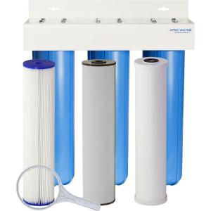 APEC Water Systems Whole House 3-Stage Water Filtration System Iron, Sediment... by APEC Water Systems