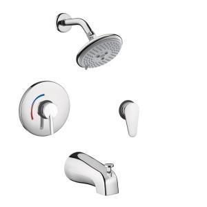 Hansgrohe Focus S Shower System Combo in Chrome by