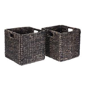 Wicker in Cube Storage Bins