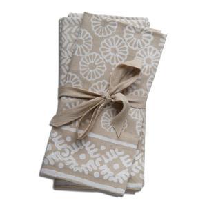 Tag cloth napkins & napkin rings