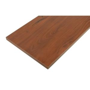 Rubbermaid 12 in. x 72 in. Medium-Brown Cherry Shelf