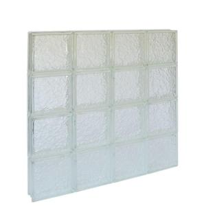 Pittsburgh Corning IceScapes Pattern 32 in. x 32 in. x 3 in. Solid Glass Block Window