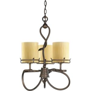 Thomasville Lighting Willow Creek Collection Weathered Auburn 3-light Chandelier-DISCONTINUED