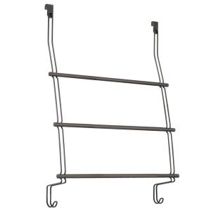 classico over shower door 3towel rack in bronze
