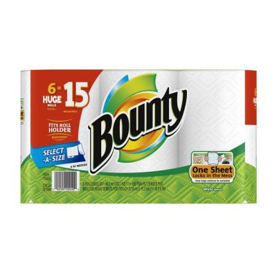 Select-A-Size 2-Ply White Paper Towels (6 Huge Rolls) Product Photo
