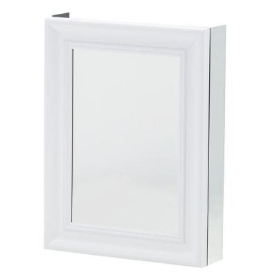 Pegasus 20 in. x 26 in. Mirrored Recessed or Surface Mount Medicine Cabinet with Framed Door in White