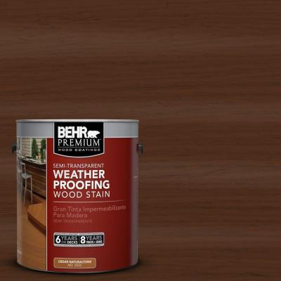 1-gal. #ST-123 Valise Semi-Transparent Weatherproofing Wood Stain